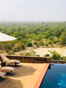 Pool side view at Zaina Lodge