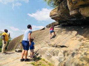 Shai Hills rock climbing